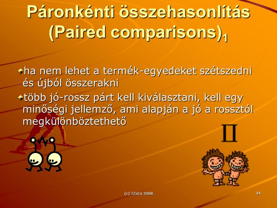 Páronkénti összehasonlítás (Paired comparisons)1