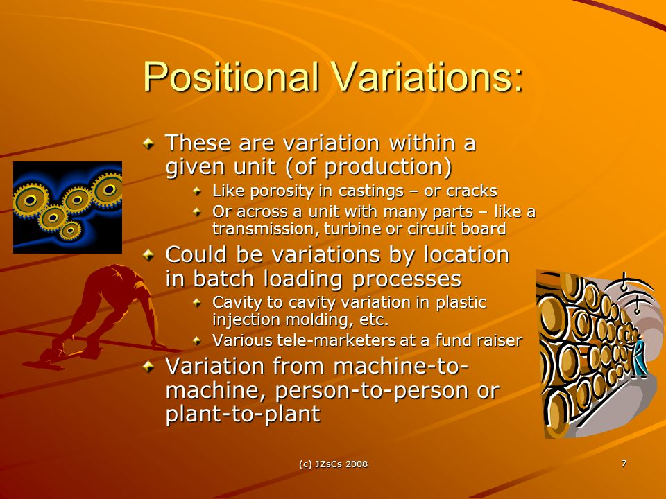 Positional Variations: