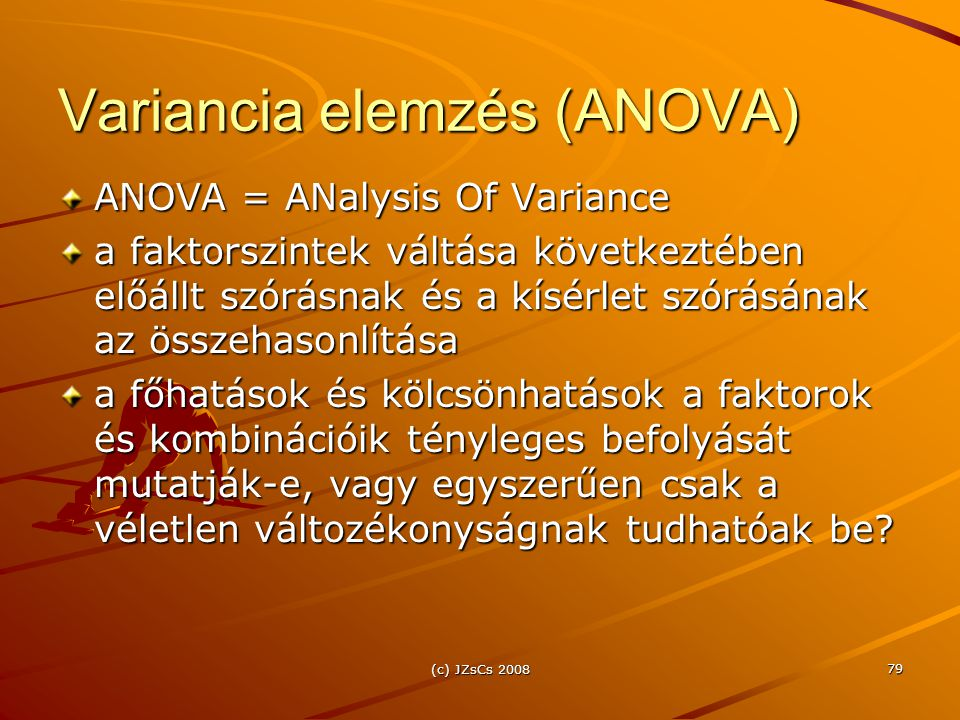 Variancia elemzés (ANOVA)
