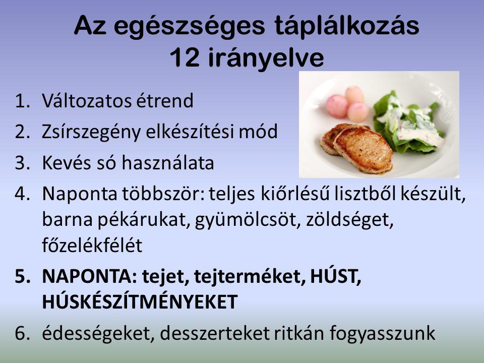 Az egészséges táplálkozás 12 irányelve