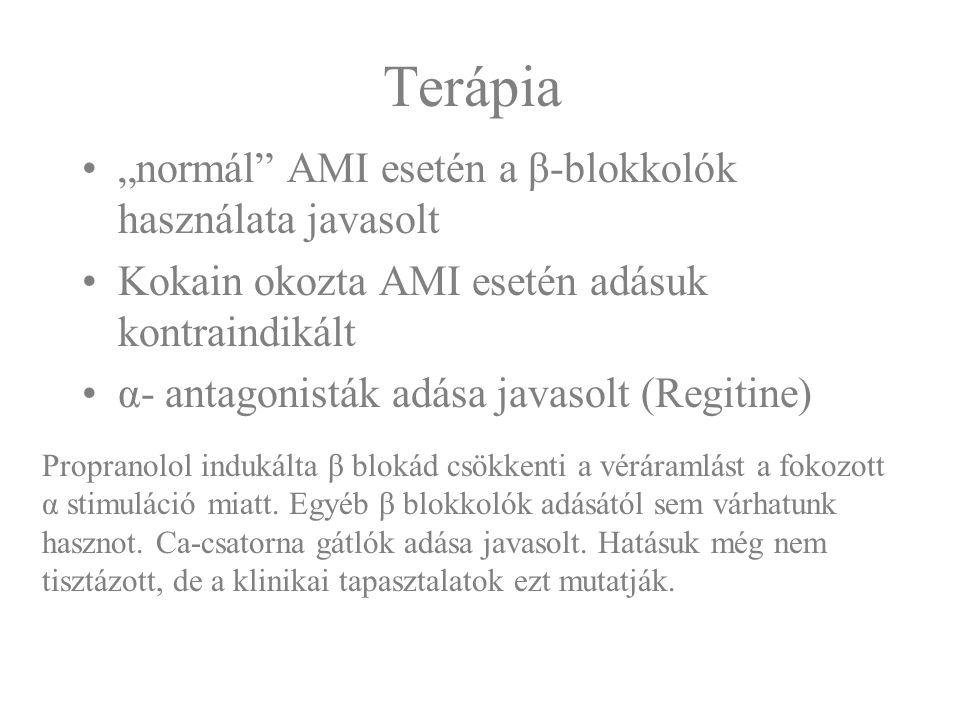 """Terápia """"normál AMI esetén a β-blokkolók használata javasolt"""