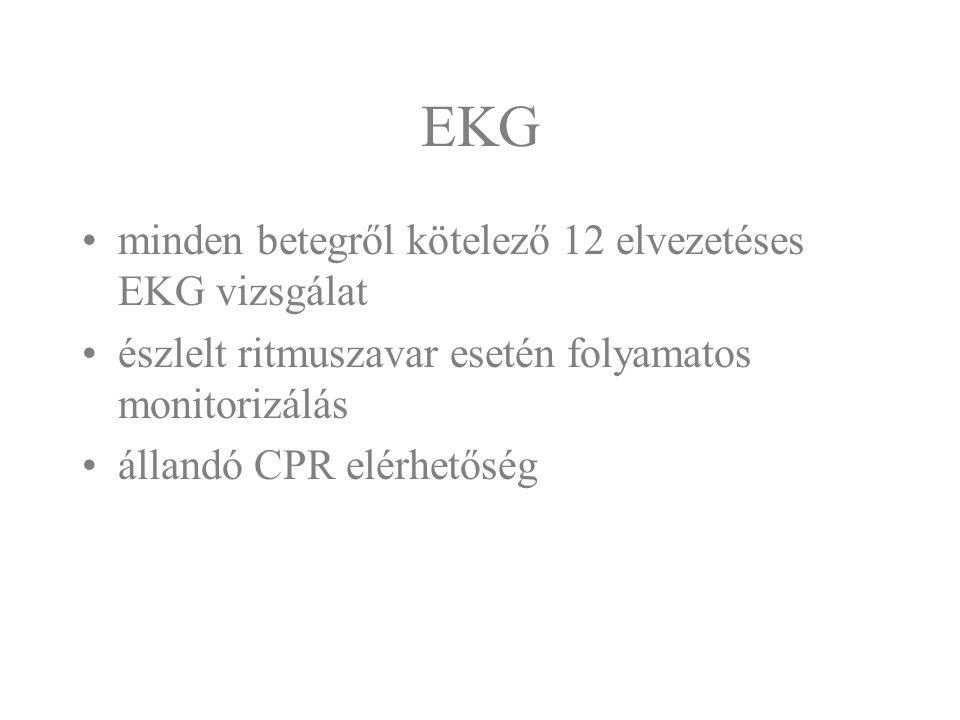 EKG minden betegről kötelező 12 elvezetéses EKG vizsgálat
