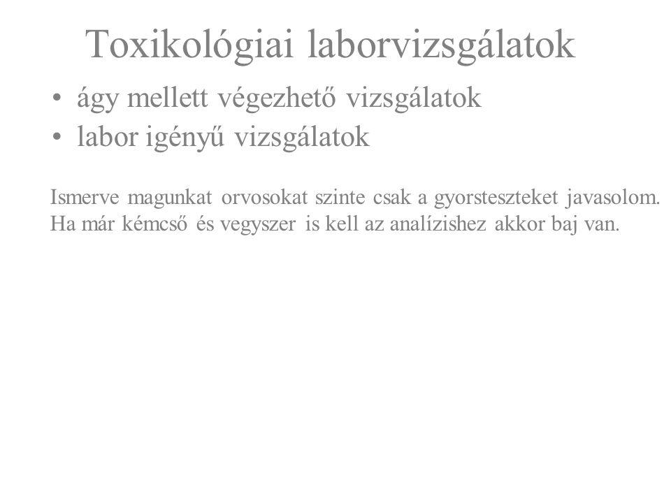 Toxikológiai laborvizsgálatok