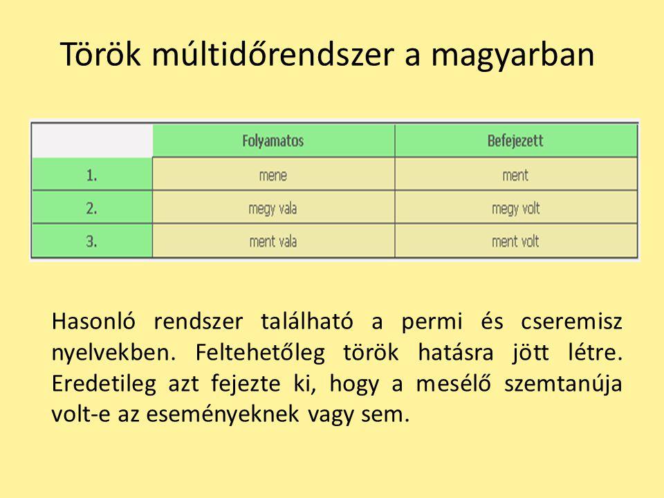 Török múltidőrendszer a magyarban