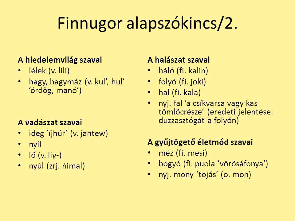 Finnugor alapszókincs/2.
