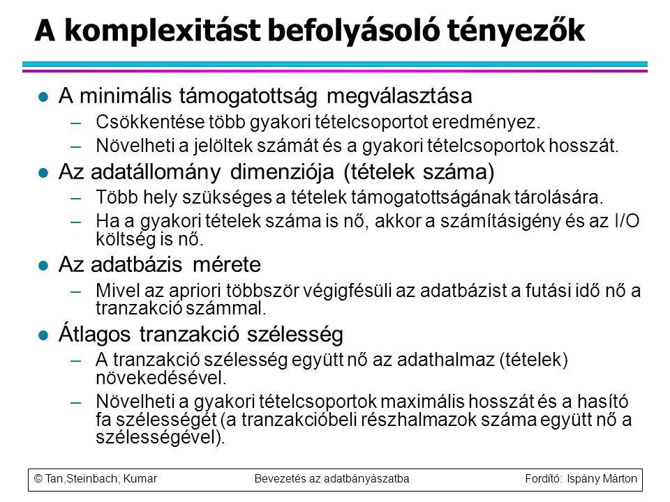 A komplexitást befolyásoló tényezők