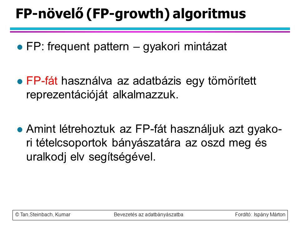 FP-növelő (FP-growth) algoritmus