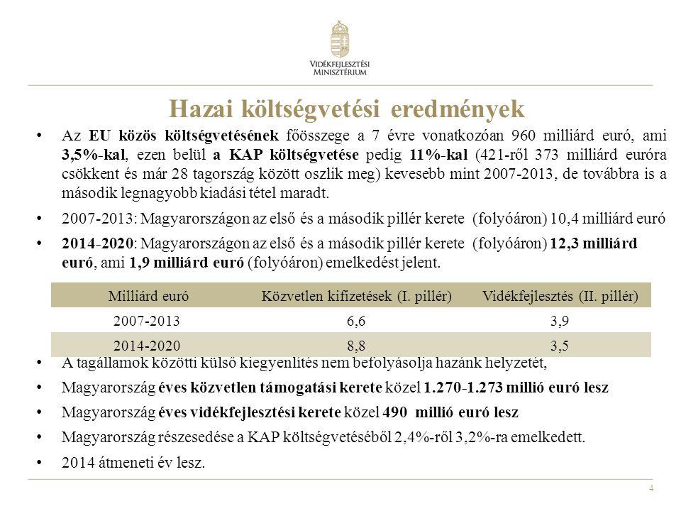Hazai költségvetési eredmények