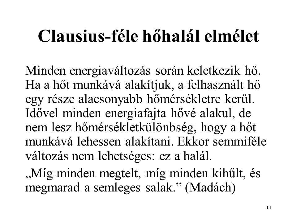 Clausius-féle hőhalál elmélet