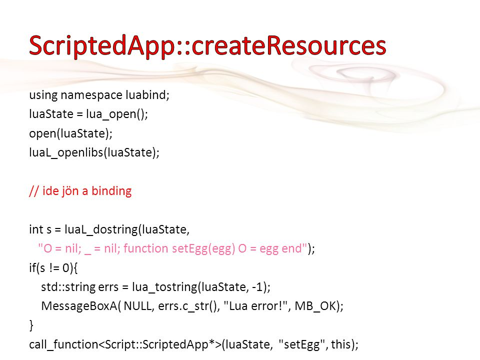 ScriptedApp::createResources