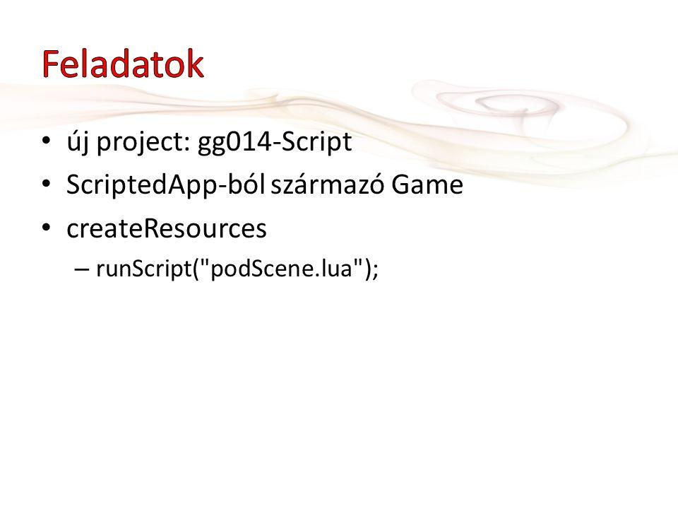 Feladatok új project: gg014-Script ScriptedApp-ból származó Game