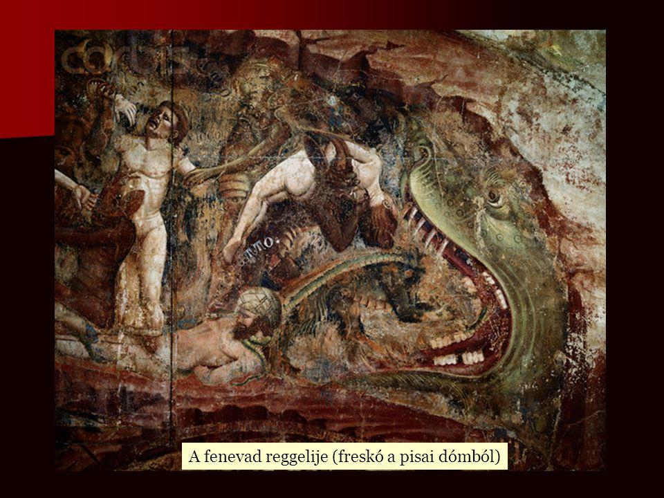 A fenevad reggelije (freskó a pisai dómból)