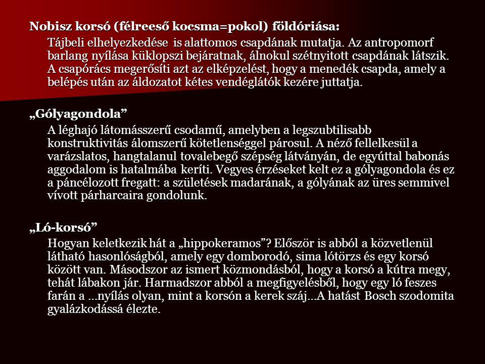 Nobisz korsó (félreeső kocsma=pokol) földóriása: