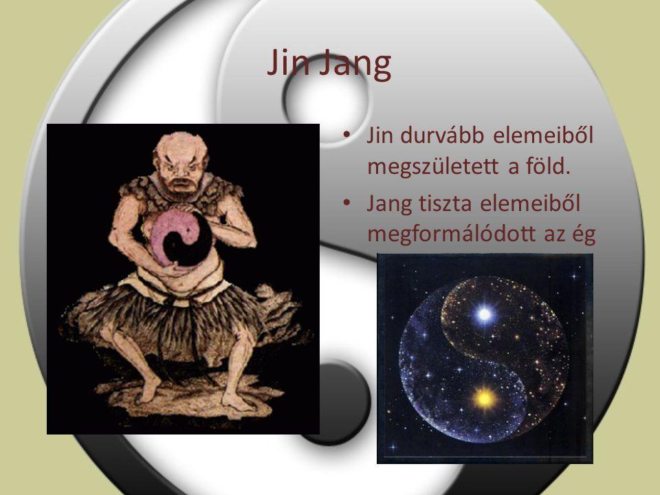Jin Jang Jin durvább elemeiből megszületett a föld.