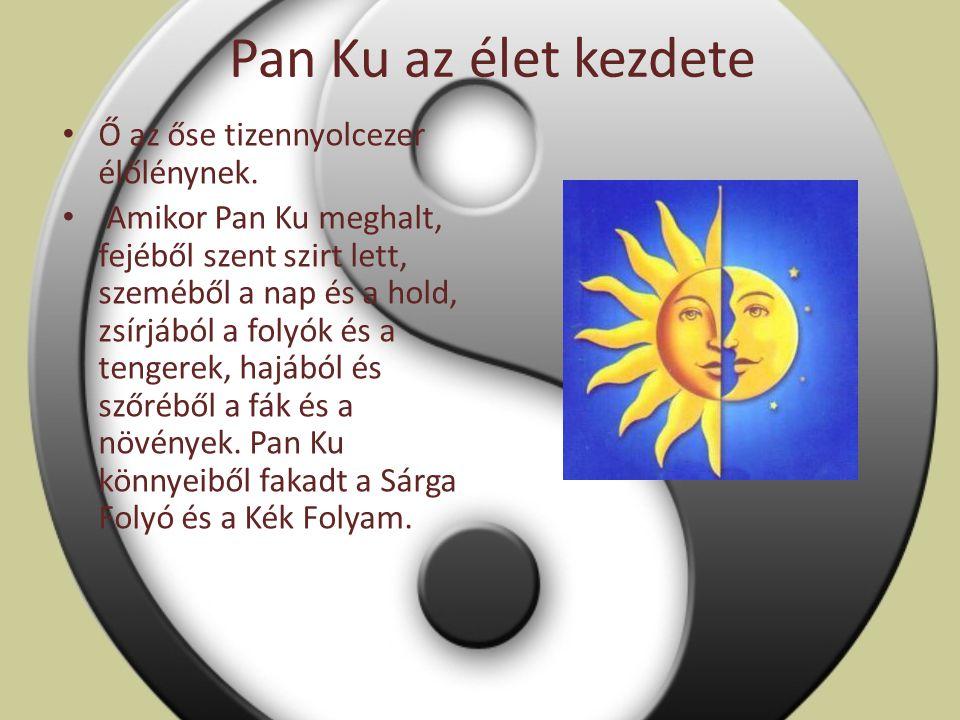 Pan Ku az élet kezdete Ő az őse tizennyolcezer élőlénynek.