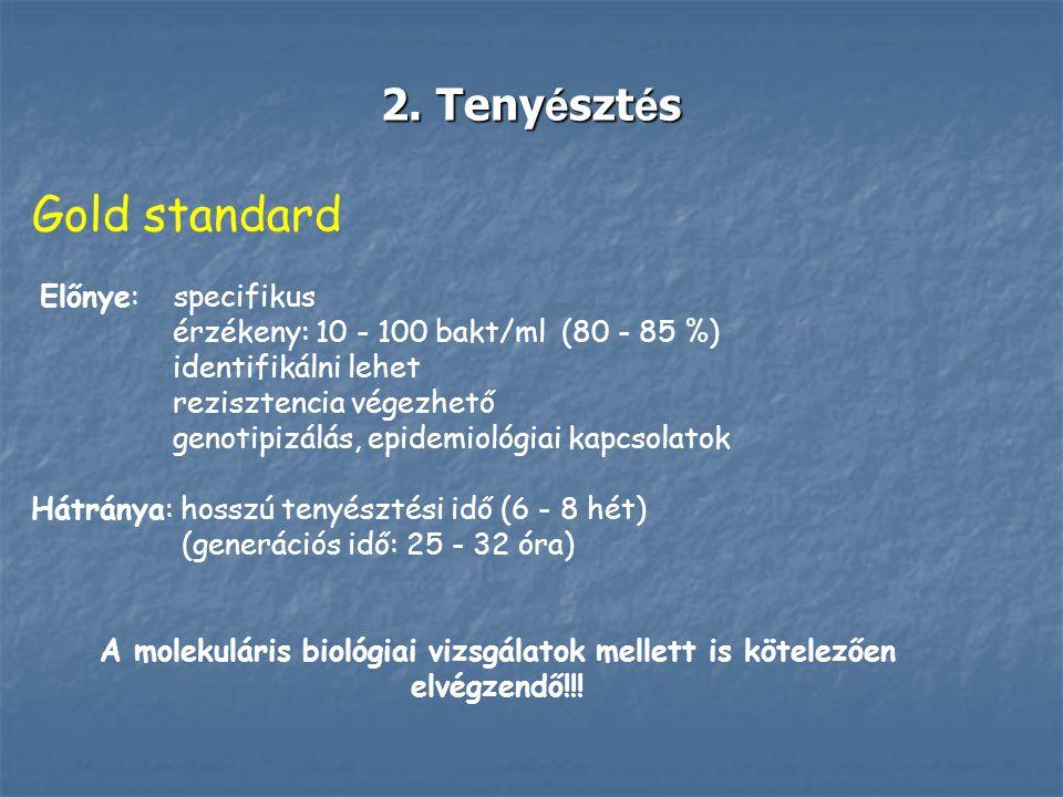 Gold standard 2. Tenyésztés Előnye: specifikus