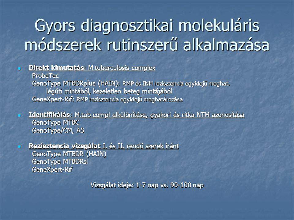 Gyors diagnosztikai molekuláris módszerek rutinszerű alkalmazása