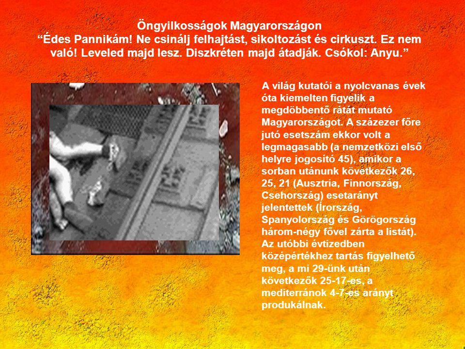 Öngyilkosságok Magyarországon Édes Pannikám