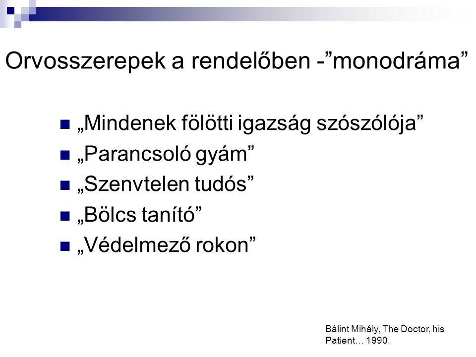 Orvosszerepek a rendelőben - monodráma