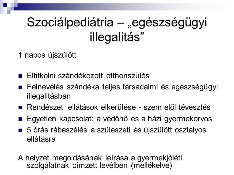 """Szociálpediátria – """"egészségügyi illegalitás"""