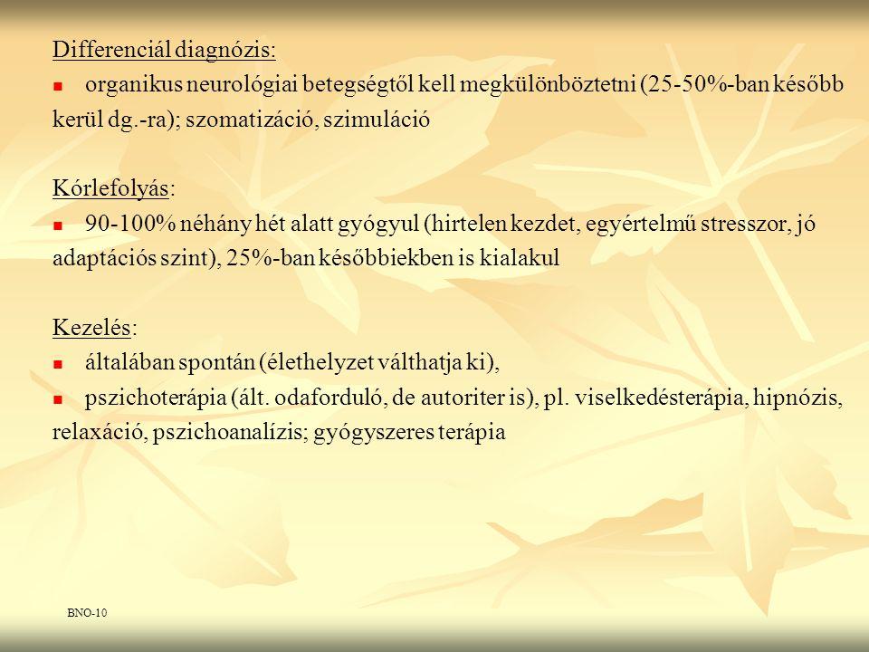 Differenciál diagnózis: