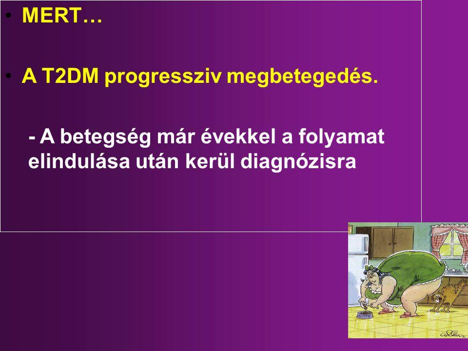 MERT… A T2DM progressziv megbetegedés.