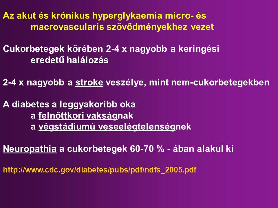 Az akut és krónikus hyperglykaemia micro- és