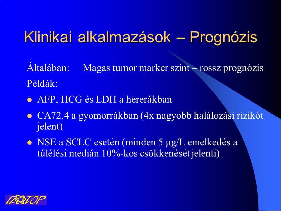 Klinikai alkalmazások – Prognózis