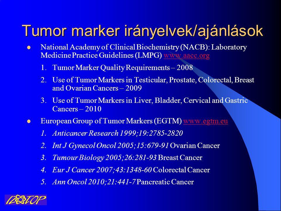 Tumor marker irányelvek/ajánlások