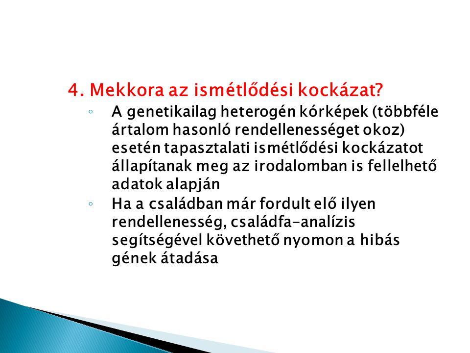 4. Mekkora az ismétlődési kockázat