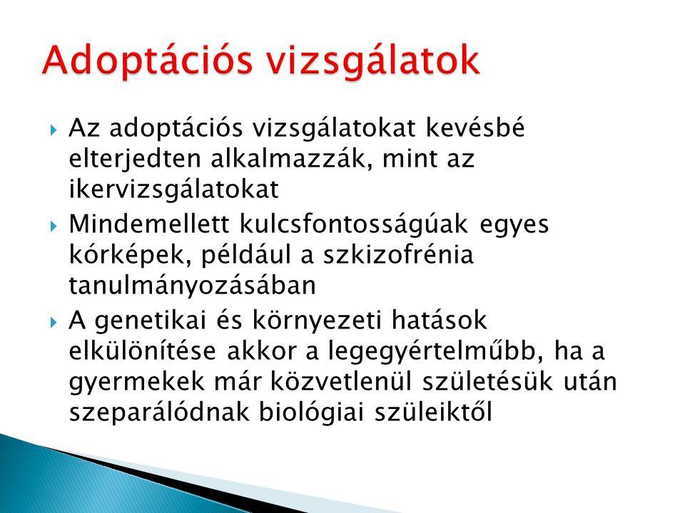 Adoptációs vizsgálatok
