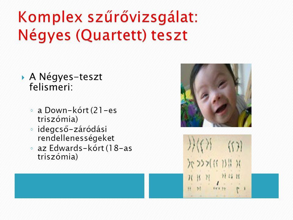 Komplex szűrővizsgálat: Négyes (Quartett) teszt