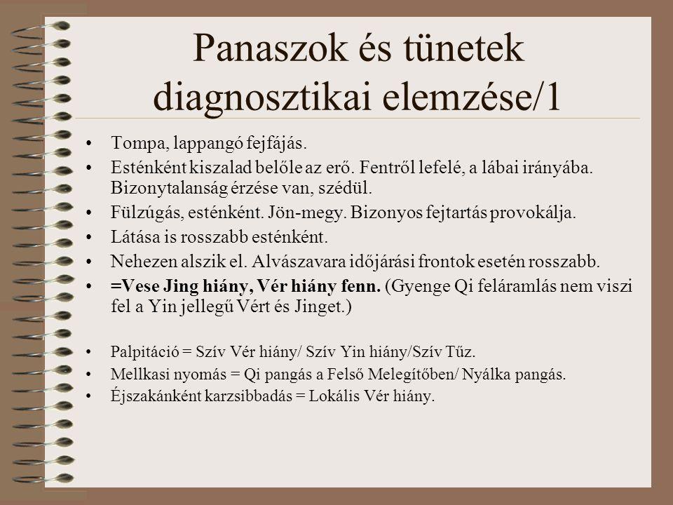 Panaszok és tünetek diagnosztikai elemzése/1