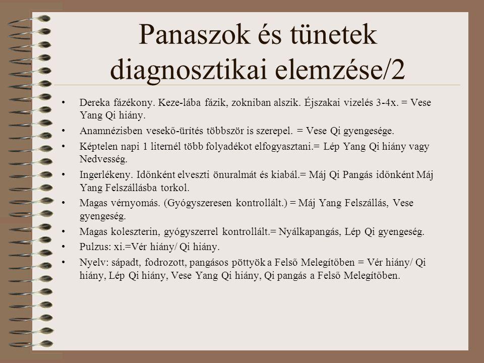 Panaszok és tünetek diagnosztikai elemzése/2