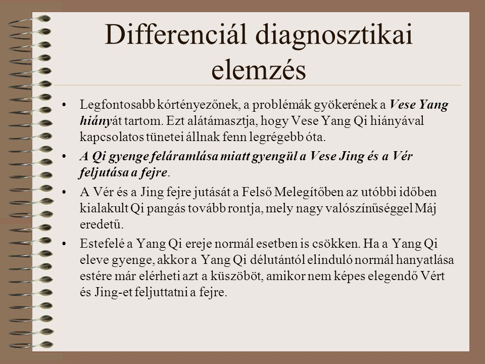 Differenciál diagnosztikai elemzés