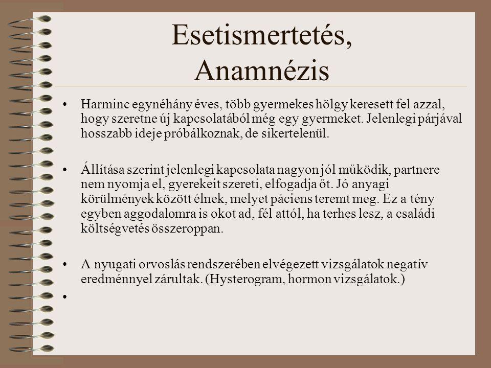 Esetismertetés, Anamnézis