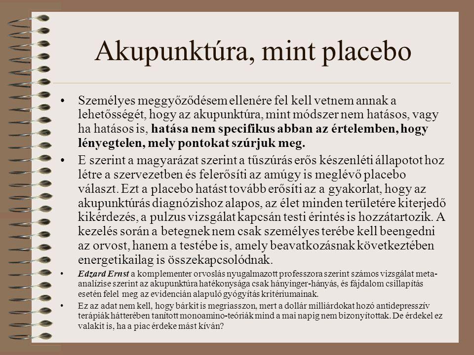 Akupunktúra, mint placebo