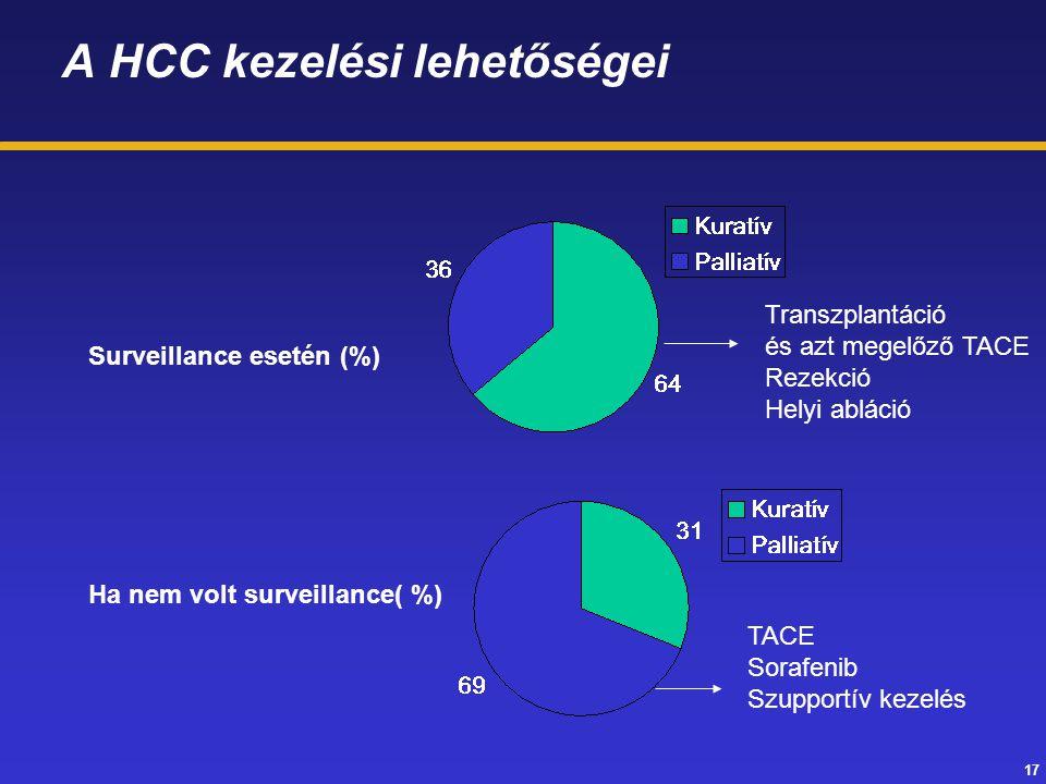 A HCC kezelési lehetőségei
