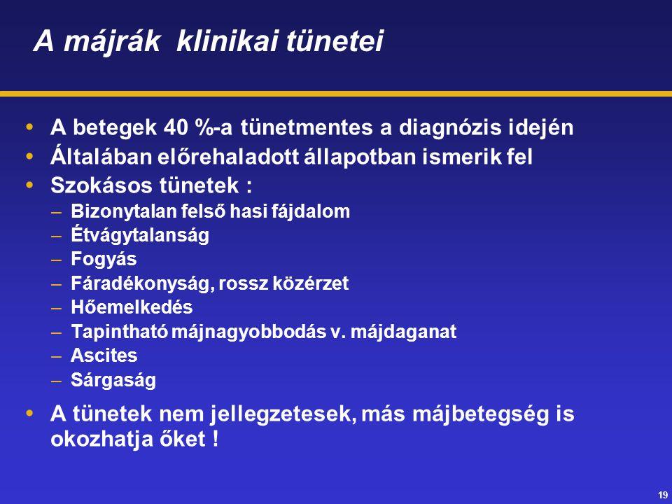 A májrák klinikai tünetei