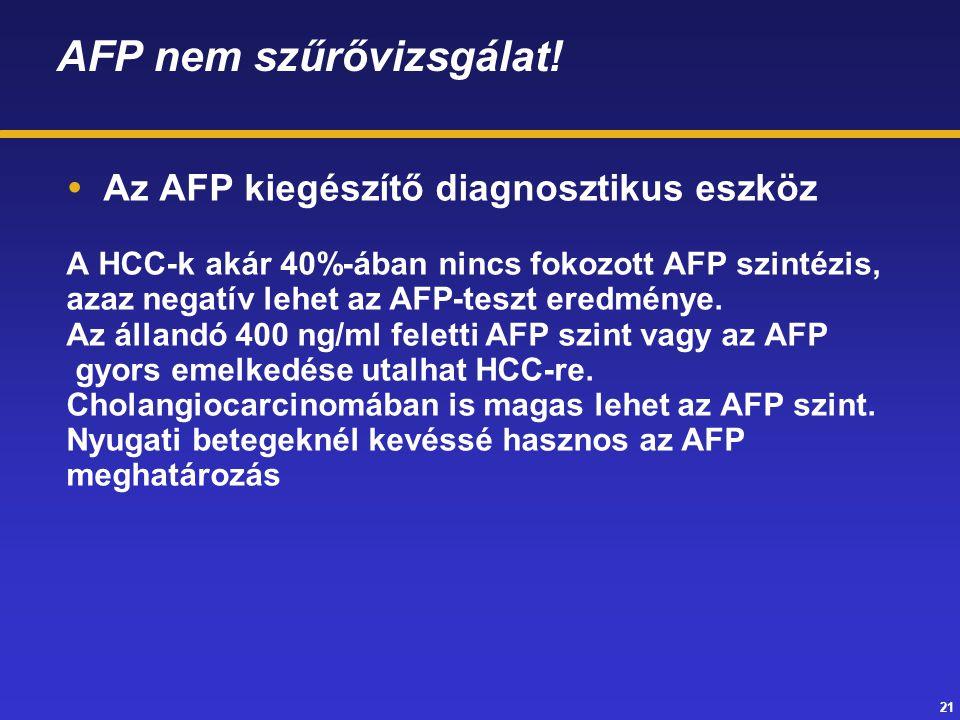 AFP nem szűrővizsgálat!