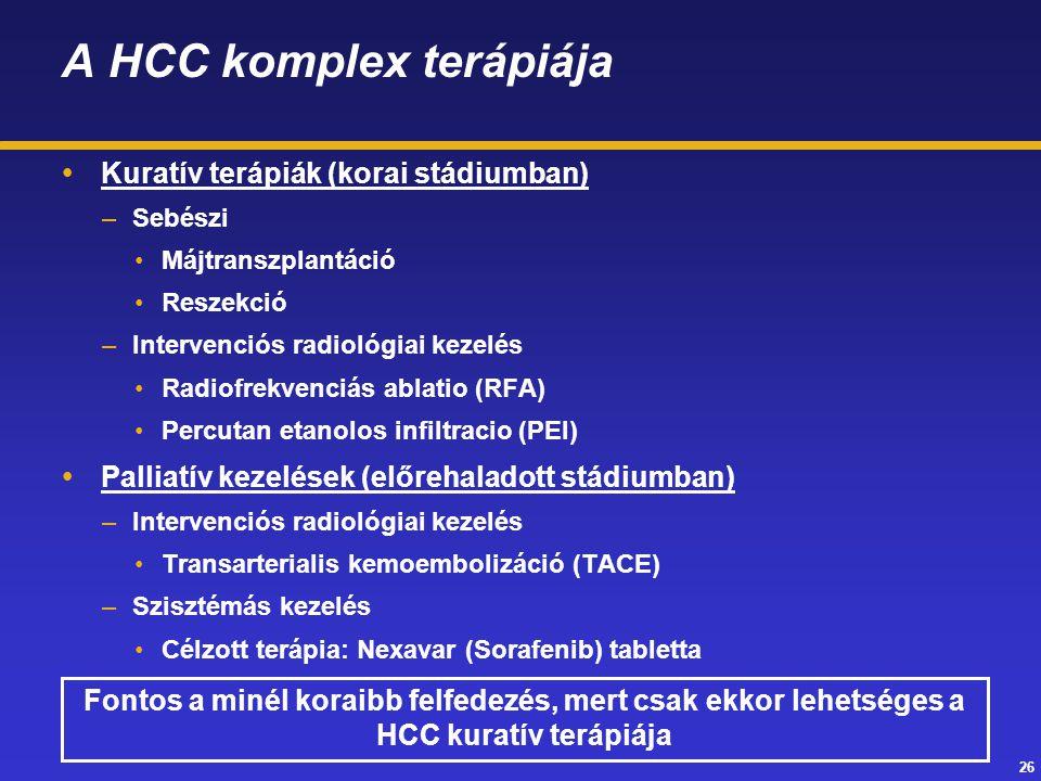 A HCC komplex terápiája