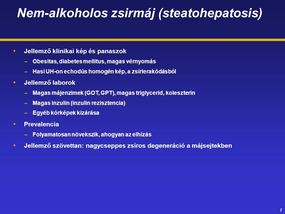 Nem-alkoholos zsirmáj (steatohepatosis)