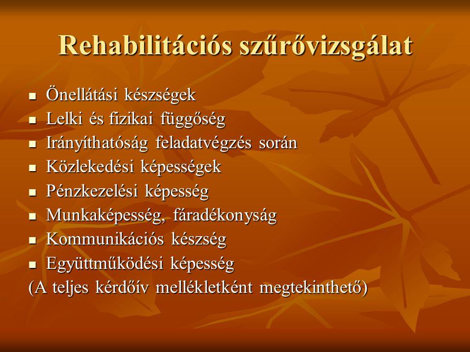Rehabilitációs szűrővizsgálat