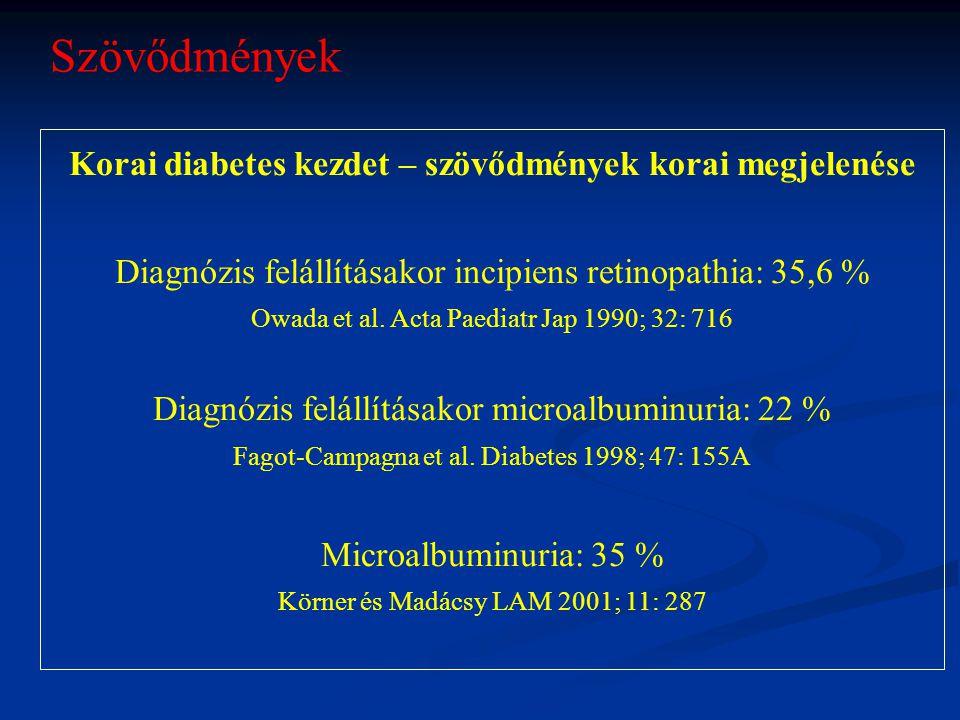 Korai diabetes kezdet – szövődmények korai megjelenése