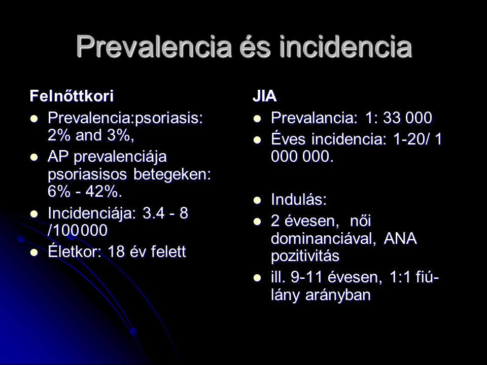 Prevalencia és incidencia
