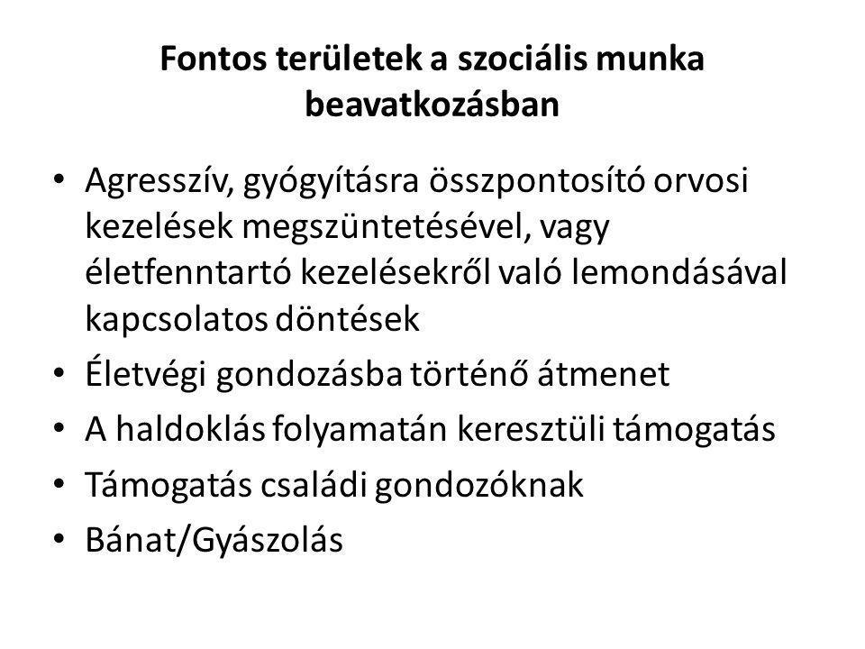 Fontos területek a szociális munka beavatkozásban