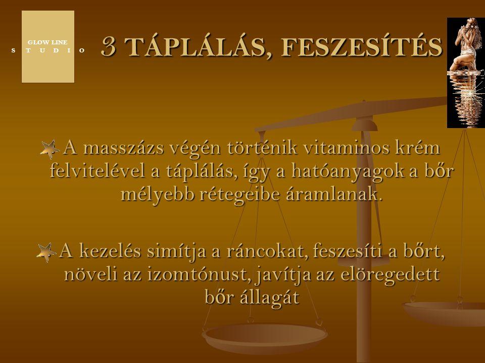 GLOW LINE S T U D I O. 3 TÁPLÁLÁS, FESZESÍTÉS.
