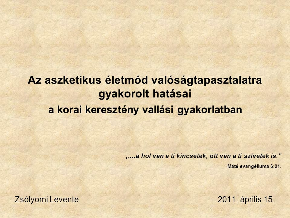Zsólyomi Levente 2011. április 15.