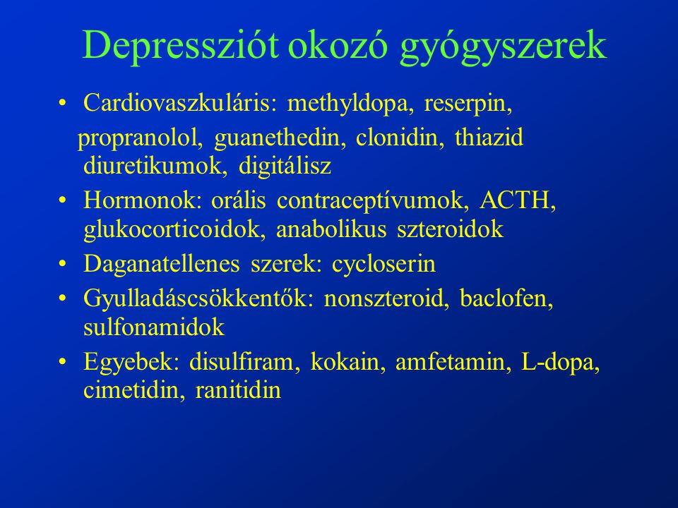 Depressziót okozó gyógyszerek
