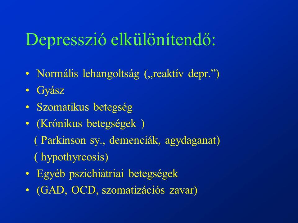 Depresszió elkülönítendő: